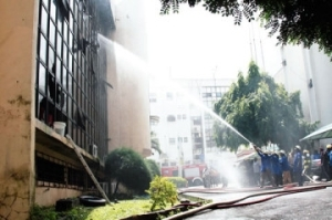 Fire guts football federation's headquarters